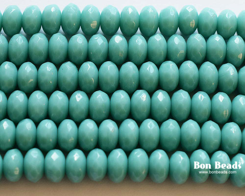 4x7mm Green Turquoise Rondelles (300 Pieces)