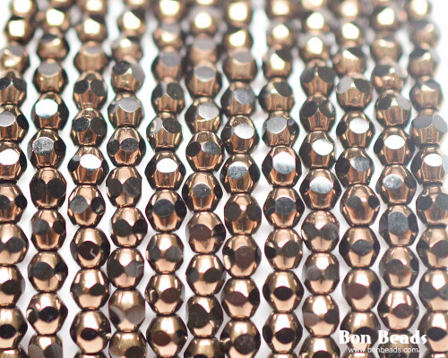 4mm Dark Bronze Cut Fire Polished Bicones (600 Pieces)