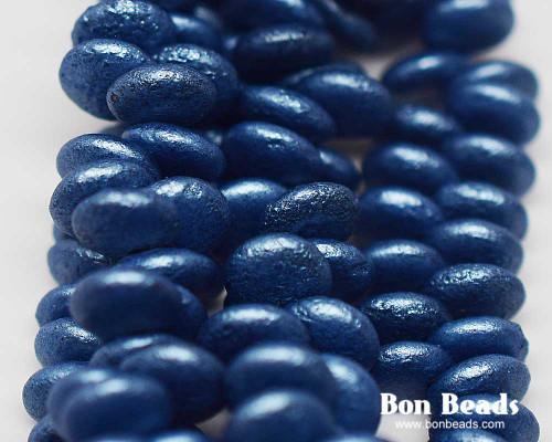 6mm Pastel Lapis Etched Lentils (300 Pieces)