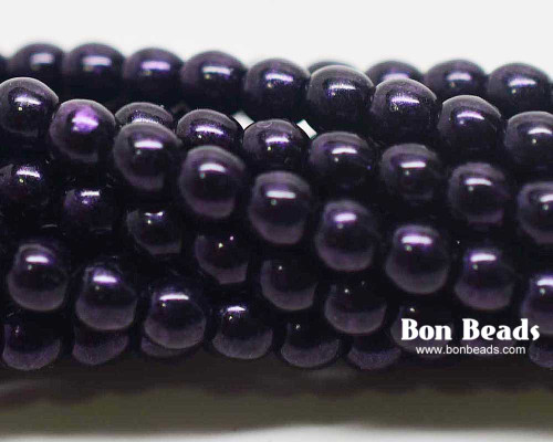 4mm Van Gogh Eggplant Smooth Round Druks (600 Pieces)