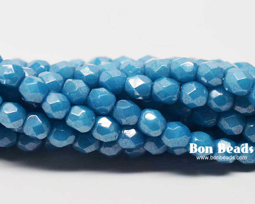4mm Blue Turquoise Moon Dust Round Fire Polished (600 Pieces)