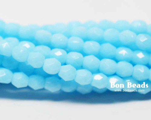 4mm Blue Turquoise Round Fire Polished (600 Pieces)