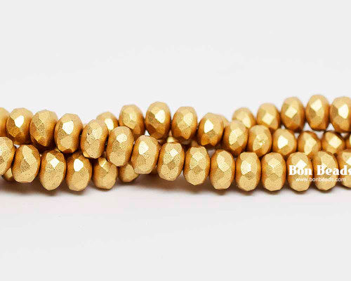 4x7mm Aztec Gold Rondelles (300 Pieces)