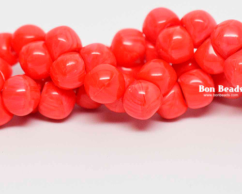 7mm Coral Wide Cap Mushroom Buttons (150 Pieces)