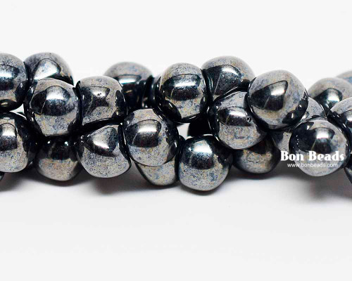 7mm Gunmetal Wide Cap Mushroom Buttons (150 Pieces)