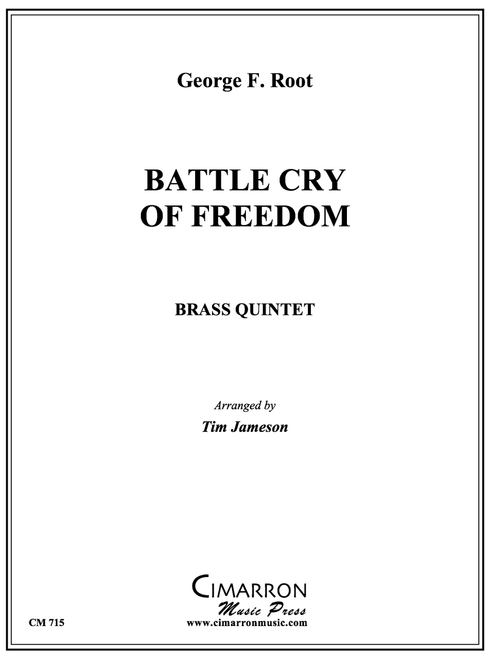 Battle Cry of Freedom Brass Quintet (Root/Jameson) PDF  Download