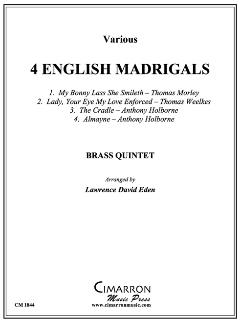 4 English Madrigals for Brass Quintet (Various/Lawrence David Eden) PDF Download