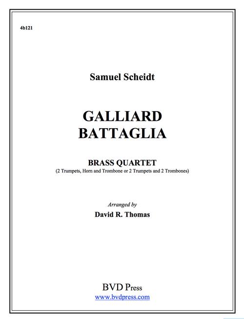 Galliard Battaglia Brass Quartet (Scheidt/Thomas) PDF Download