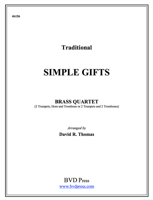 Simple Gifts Brass Quartet (Trad./Thomas) PDF Download