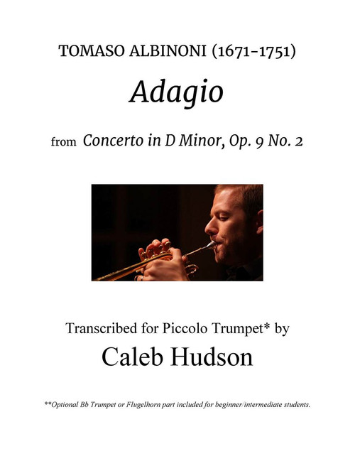 Albinoni's Adagio transcribed for Trumpet, Piano and optional Cello (Albinoni/arr. Hudson)