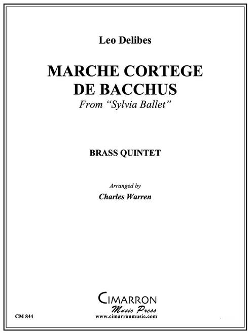 """-Marche Cortege De Bacchusfrom""""Sylvia Ballet"""" Brass Quintet (Delibes/ arr. Warren) PDF Download"""