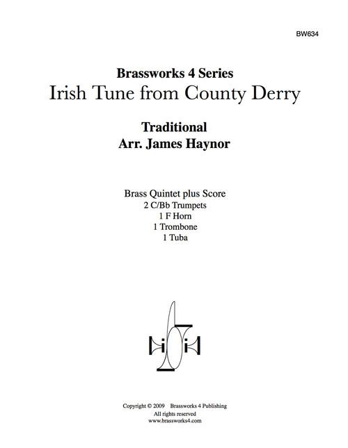 Irish Tune from County Derry Brass Quintet (Trad./Haynor) PDF Download
