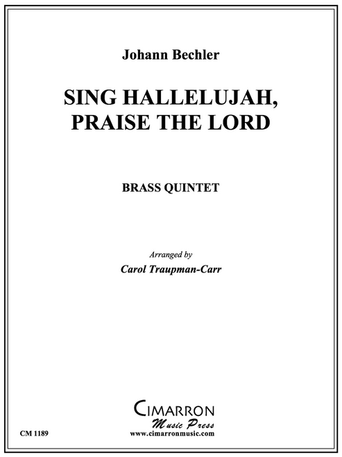 Sing Hallelujah, Praise the Lord for Brass Quintet (Bechler/arr. Traupman-Carr) PDF Download