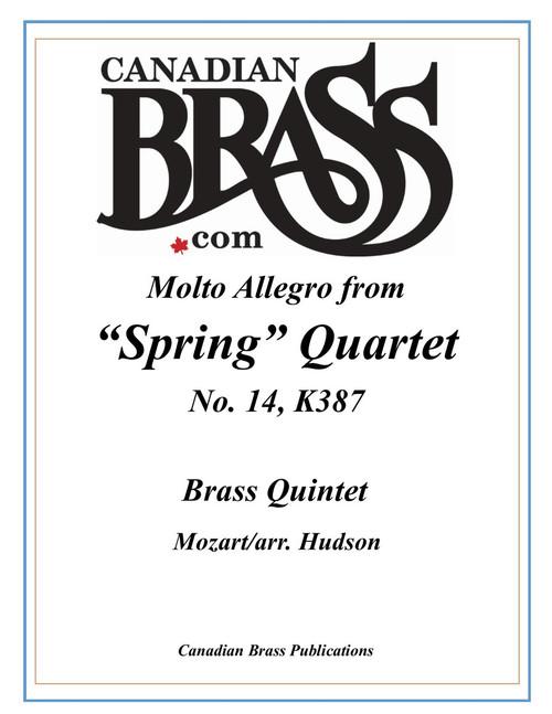 """Molto Allegro from """"Spring"""" Quartet No. 14, K.387 for Brass Quintet (Mozart/arr. Hudson) PDF Download"""