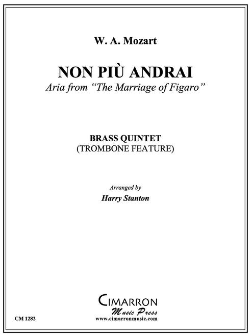 Non Piu Andrai for Brass Quintet (Mozart/arr. Stanton) PDF Download