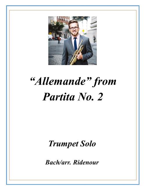 Allemande from Violin Partita No. 2 transcribed for Trumpet (Bach/arr. Ridenour) PDF Download