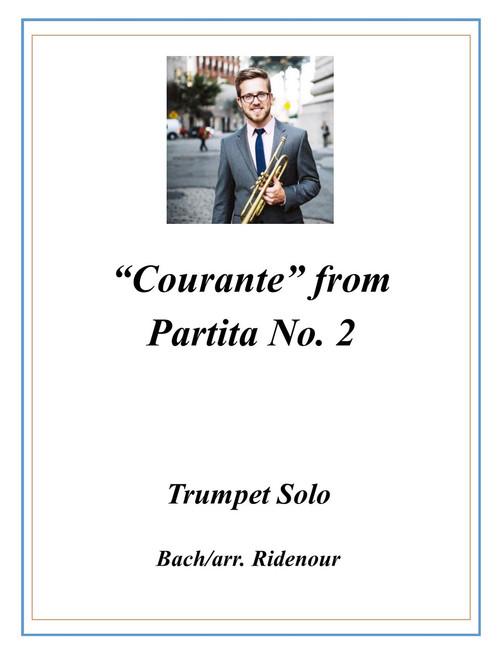 Courante from Violin Partita No. 2 Transcribed for Trumpet Solo (Bach/arr. Ridenour) PDF Download