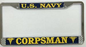 U.S. Navy Corpman License Plate Frame