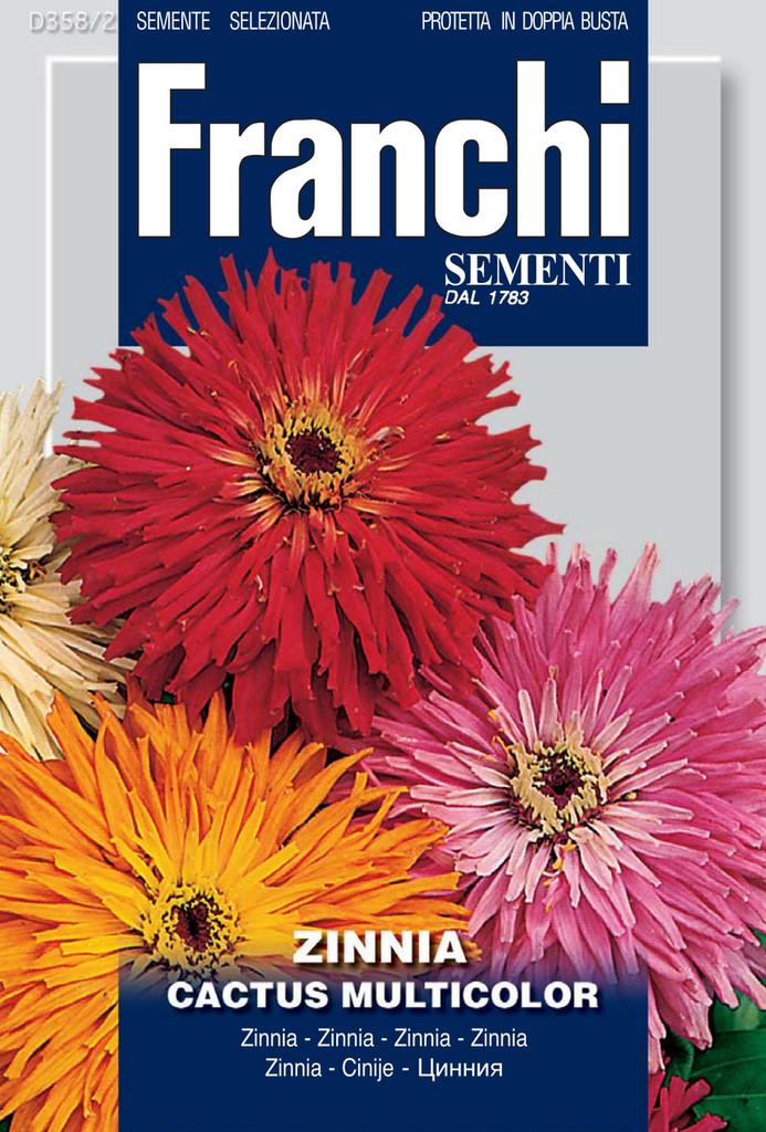 Zinnia Cactus Multicolor (358-2)