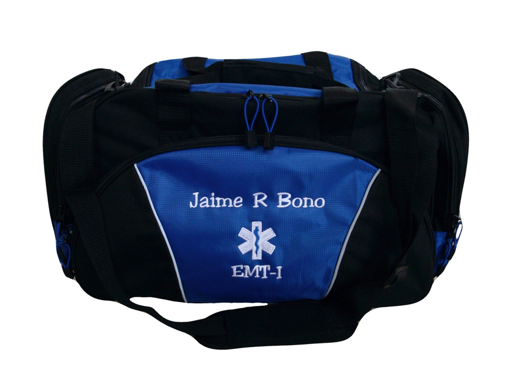 Star of Life ROYAL BLUE DUFFEL Ambulance First Responder EMT EMS Paramedic Medic RN Emergency Hospital Font Style JESTER