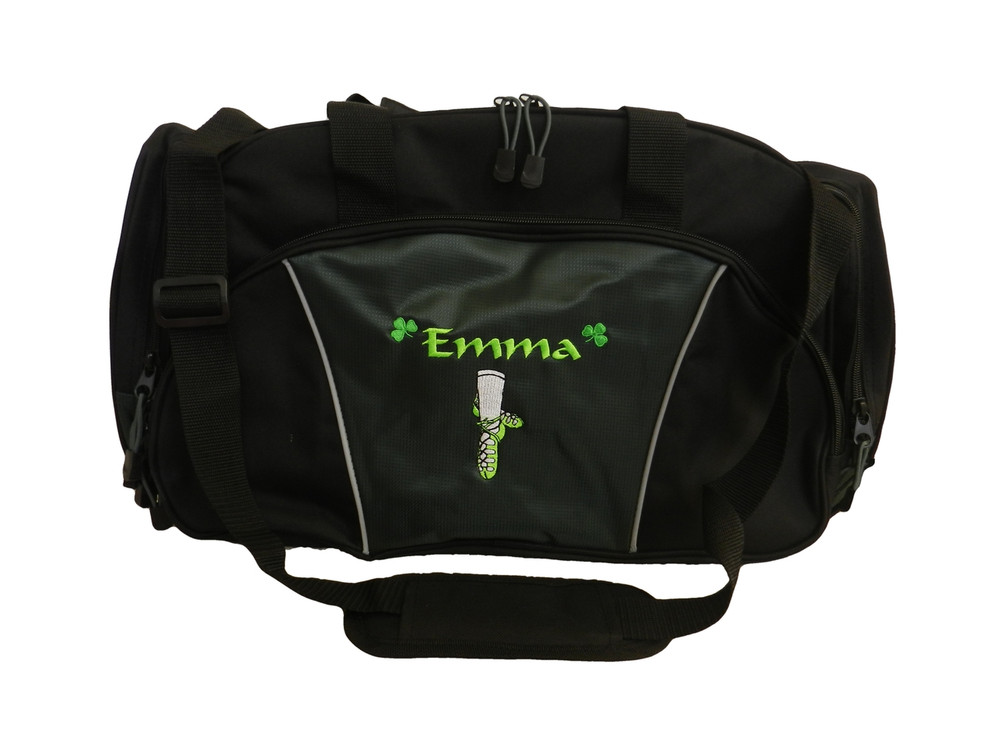 Ghillie Girl Shoes Celtic Shamrock Jig Irish Dance Personalized Embroidered DARK HUNTER GREEN Duffel Bag Font Style CALLIGRAPHY