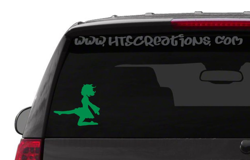 Irish Dancer Ghillie Feis Dance Kick Celtic Vinyl Decal Laptop Car KELLY GREEN