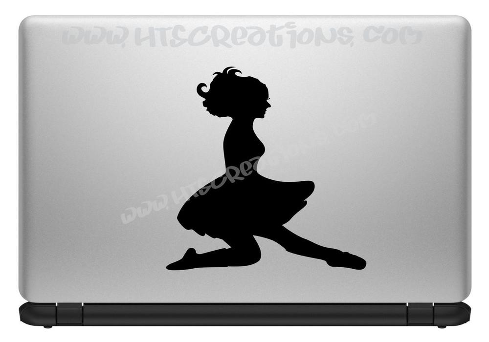 Irish Dancer Ghillie Feis Dance High Kick Celtic Vinyl Decal Laptop Car BLACK