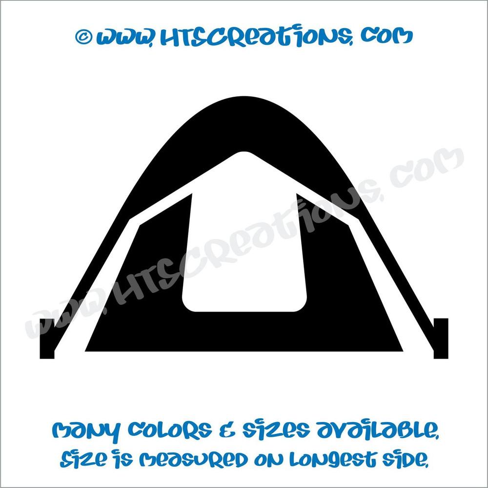 Tent Mountain Camping Climbing Outdoor Adventure Vinyl Decal Laptop Car BLACK
