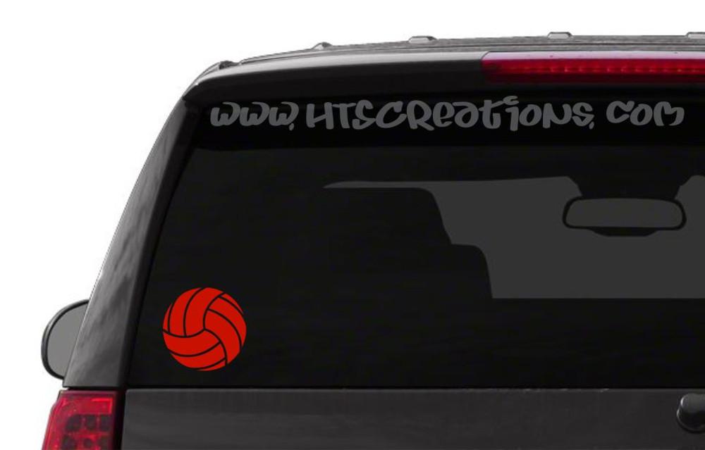 Volleyball Sports Vinyl Decal Laptop Car Door Mirror Truck Vanity Boat RED