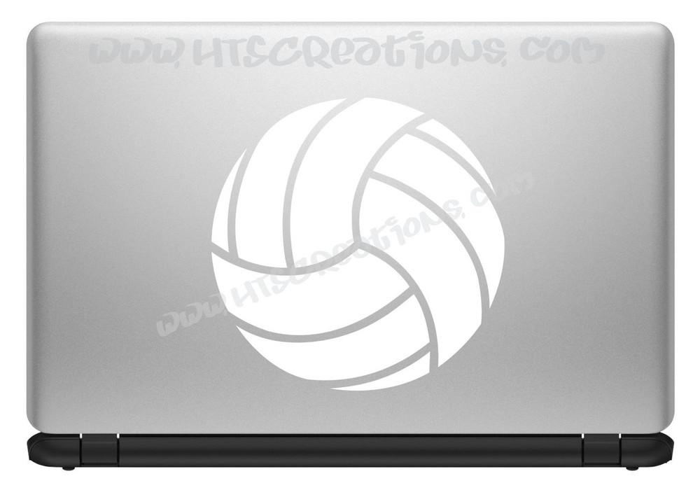 Volleyball Sports Vinyl Decal Laptop Car Door Mirror Truck Vanity Boat WHITE