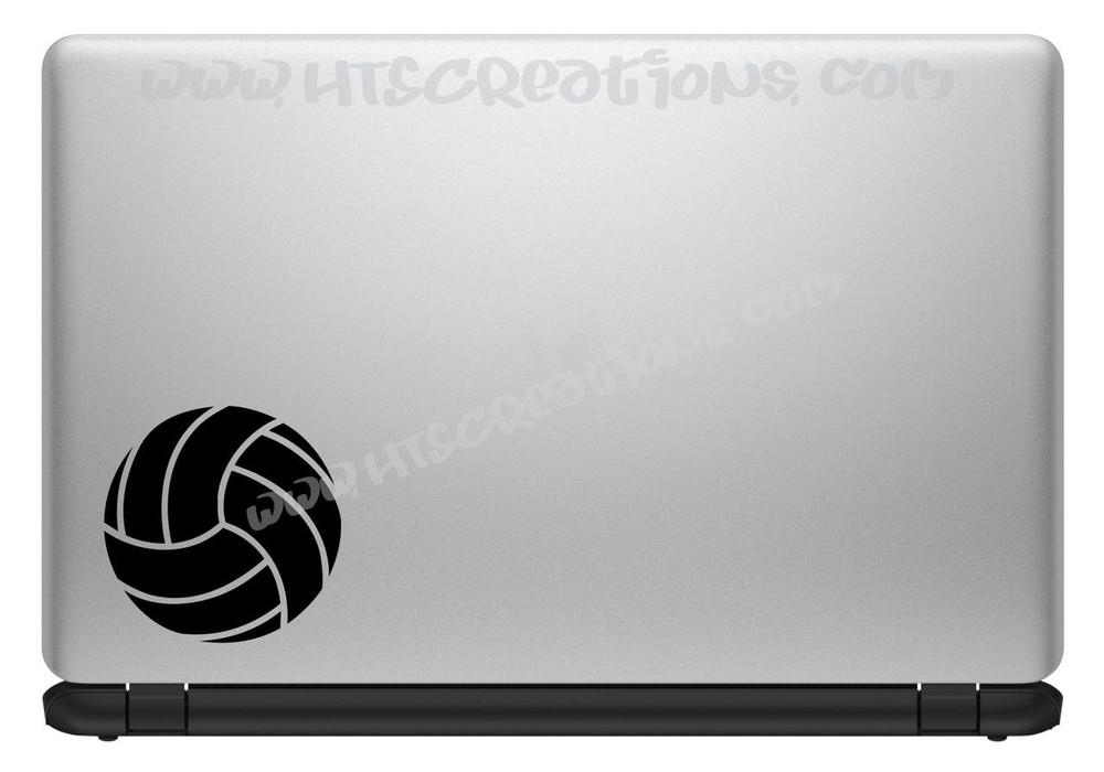 Volleyball Sports Vinyl Decal Laptop Car Door Mirror Truck Vanity Boat BLACK