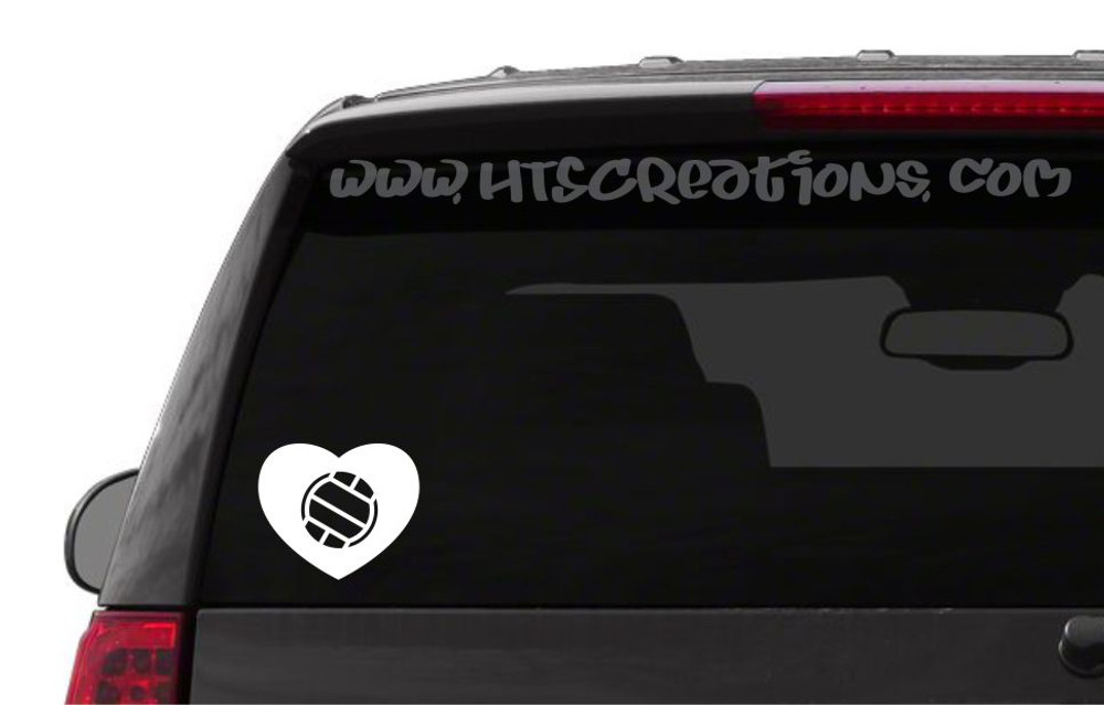 Volleyball Heart Love Sports Vinyl Decal Laptop Car Door Mirror Truck Vanity Boat