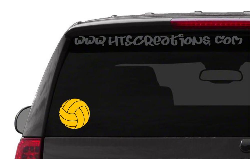 Volleyball Water Polo Sports Vinyl Decal Laptop Car Door Mirror Truck Vanity Boat GOLDEN YELLOW