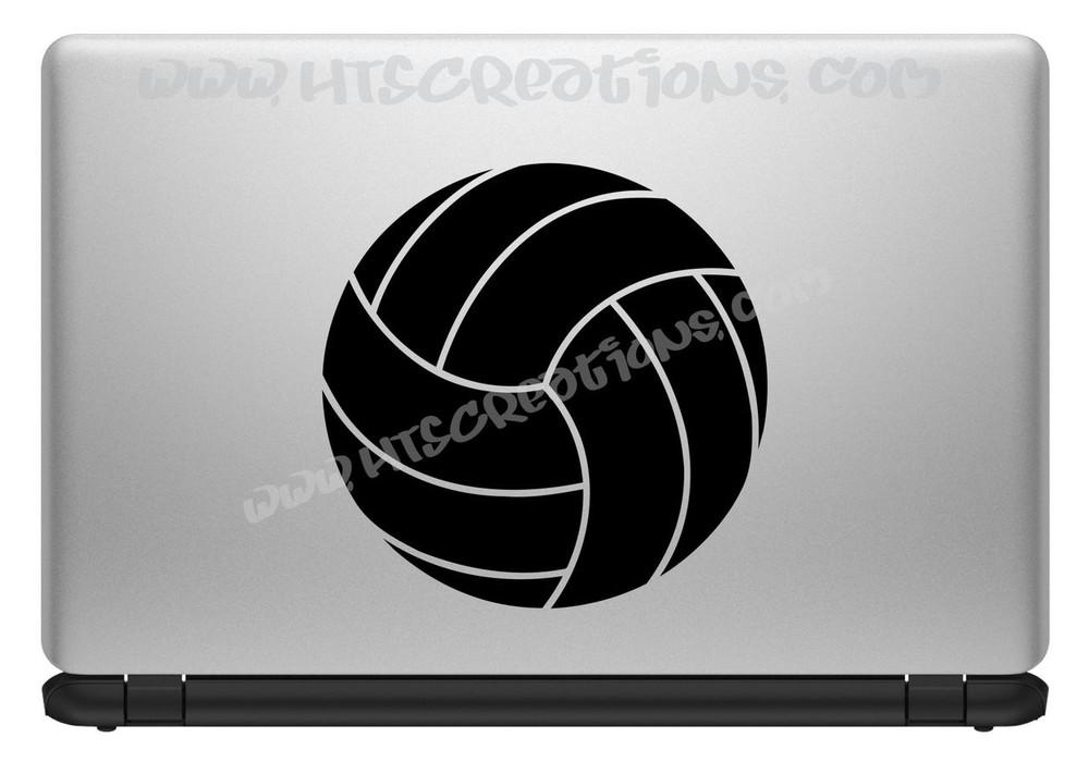 Volleyball Water Polo Sports Vinyl Decal Laptop Car Door Mirror Truck Vanity Boat BLACK