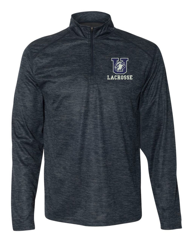Urbana Hawks LACROSSE Performance Quarter Zip Sweatshirt Badger Tonal Blend Polyester Many Colors Available NAVY
