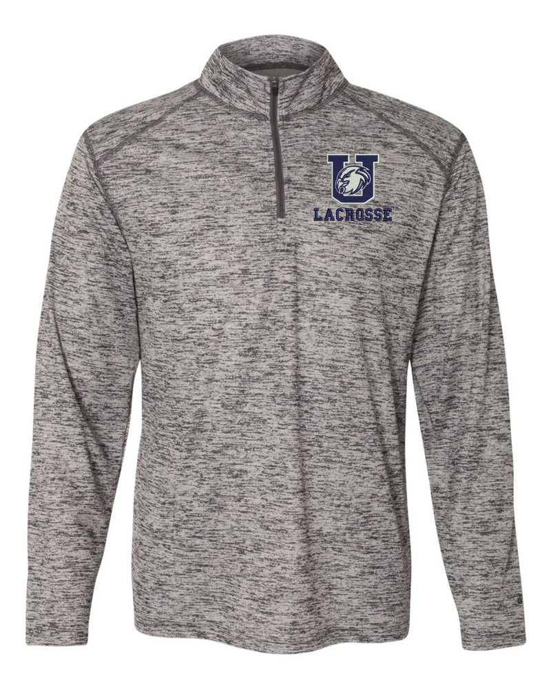Urbana Hawks Tonal Blend Performance Quarter Zip Sweatshirt Badger Polyester Many Colors Available GRAPHITE
