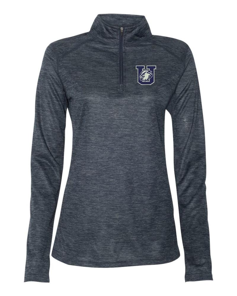 Urbana Hawks Performance Quarter Zip LADIES Sweatshirt Tonal Blend Badger Polyester Many Colors Available NAVY