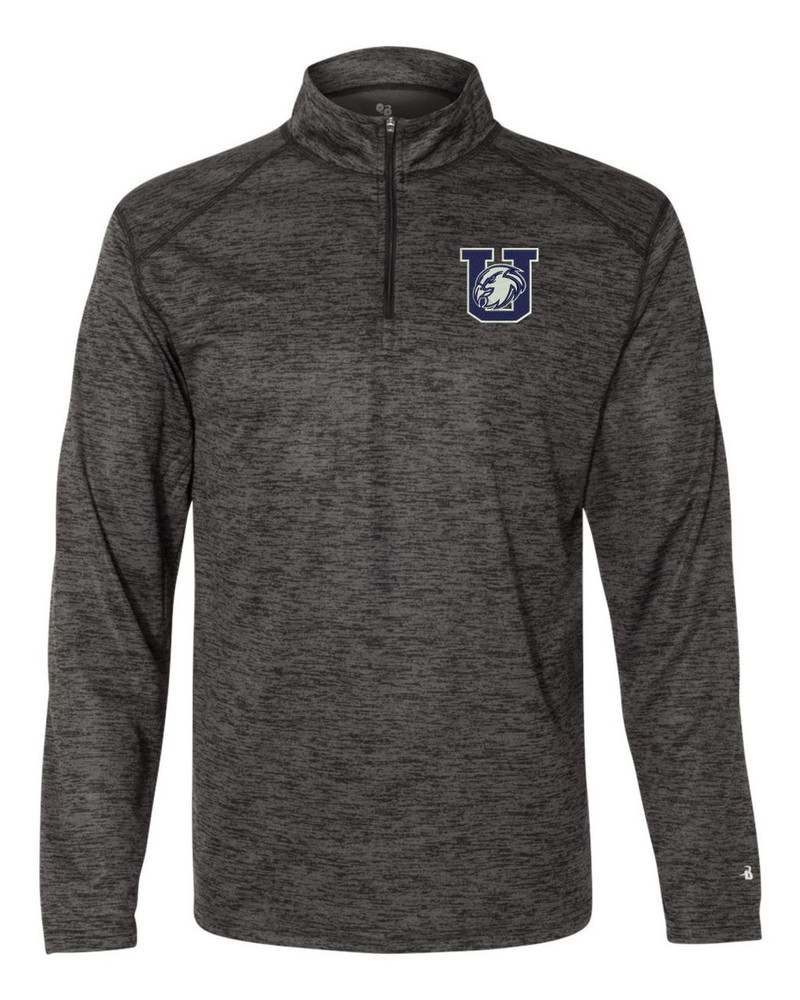 Urbana Hawks Performance Quarter Zip Sweatshirt Badger Tonal Blend Polyester Many Colors Available BLACK