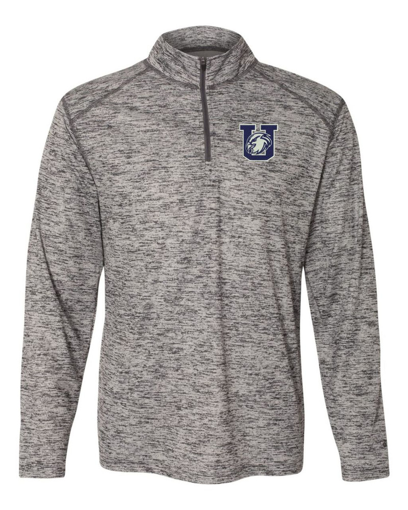 Urbana Hawks Performance Quarter Zip Sweatshirt Badger Tonal Blend Polyester Many Colors Available GRAPHITE