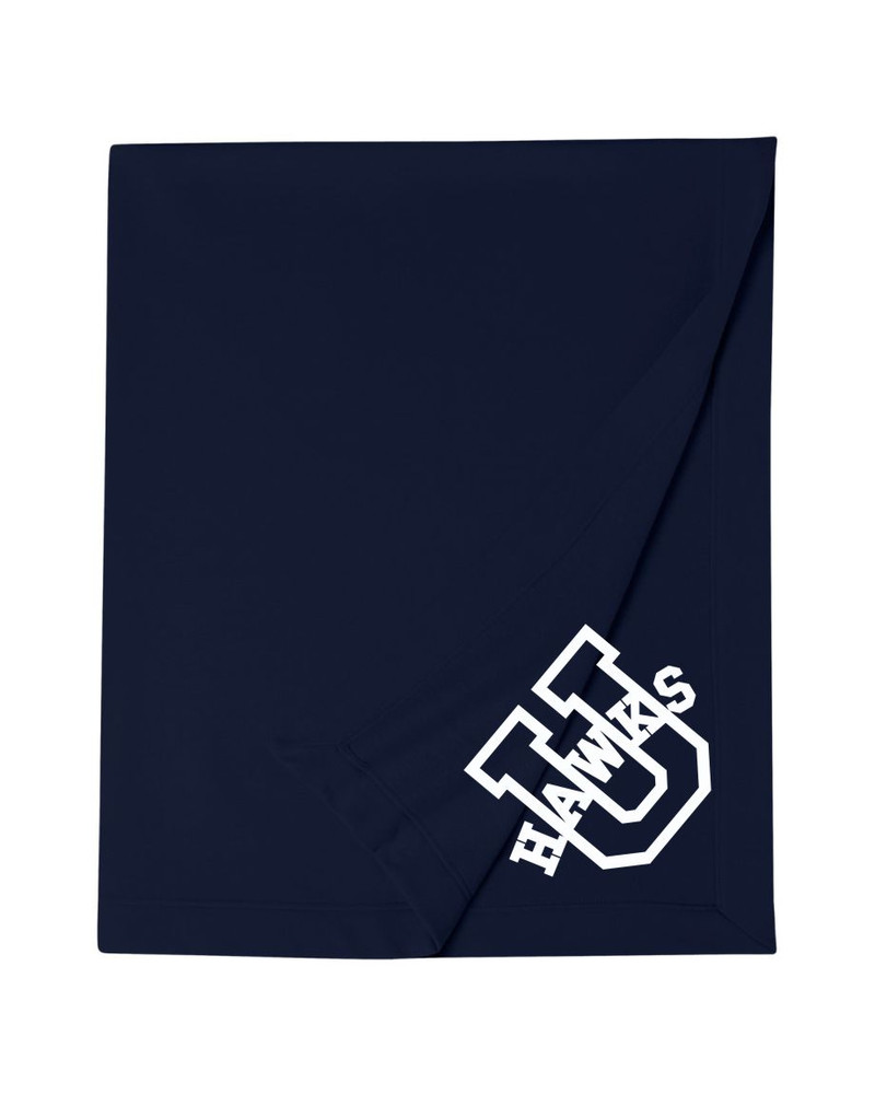 Urbana Hawks Cotton Sweatshirt Stadium Blanket 50x60 Many Colors Available
