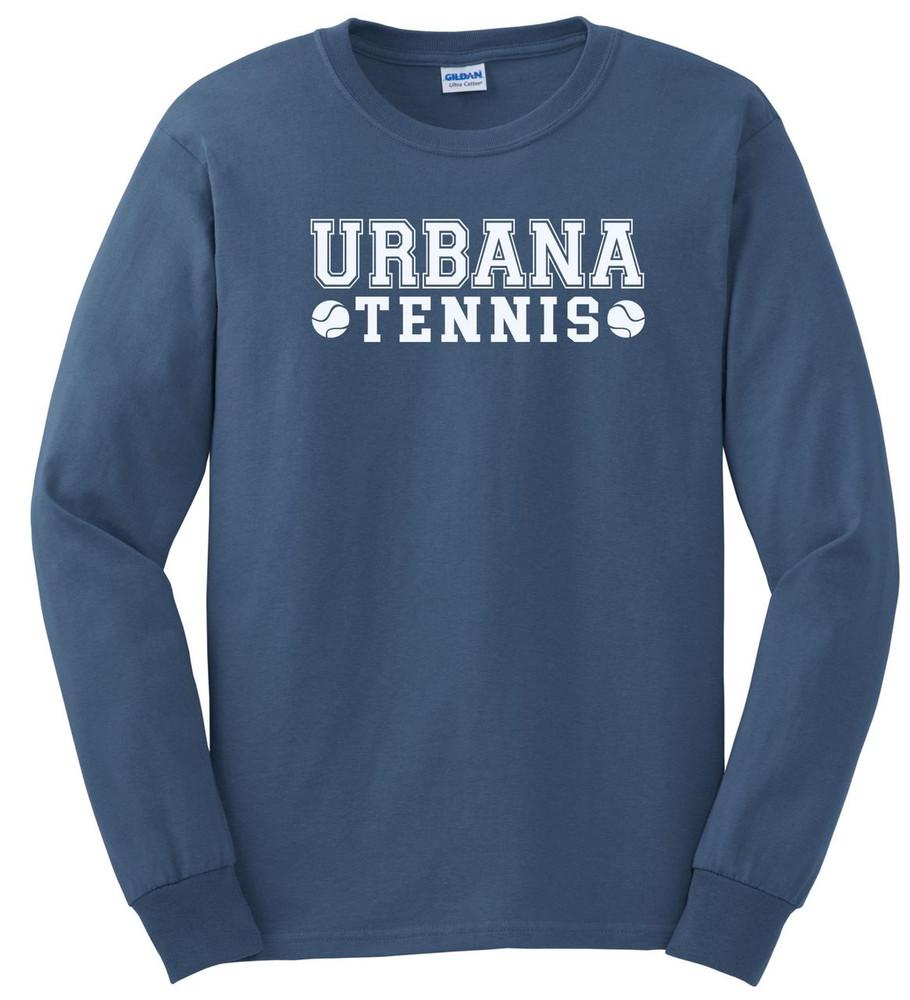UHS Urbana Hawks TENNIS T-shirt Cotton LONG SLEEVE Many Colors Available INDIGO