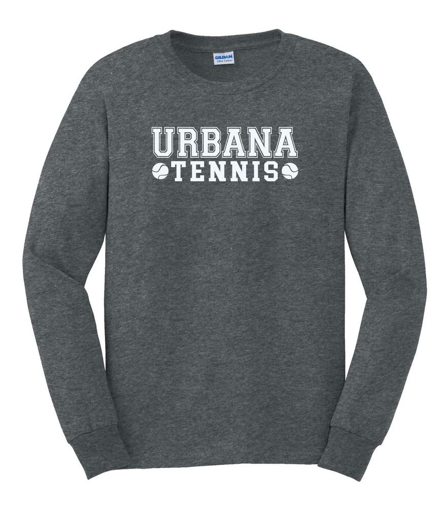 UHS Urbana Hawks TENNIS T-shirt Cotton LONG SLEEVE Many Colors Available UHS Urbana Hawks TENNIS T-shirt Cotton LONG SLEEVE Many Colors Available DK HEATHER