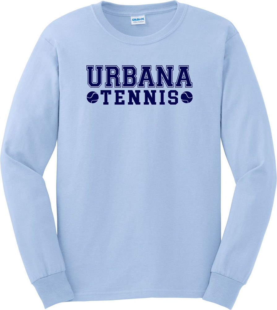 UHS Urbana Hawks TENNIS T-shirt Cotton LONG SLEEVE Many Colors Available LT BLUE