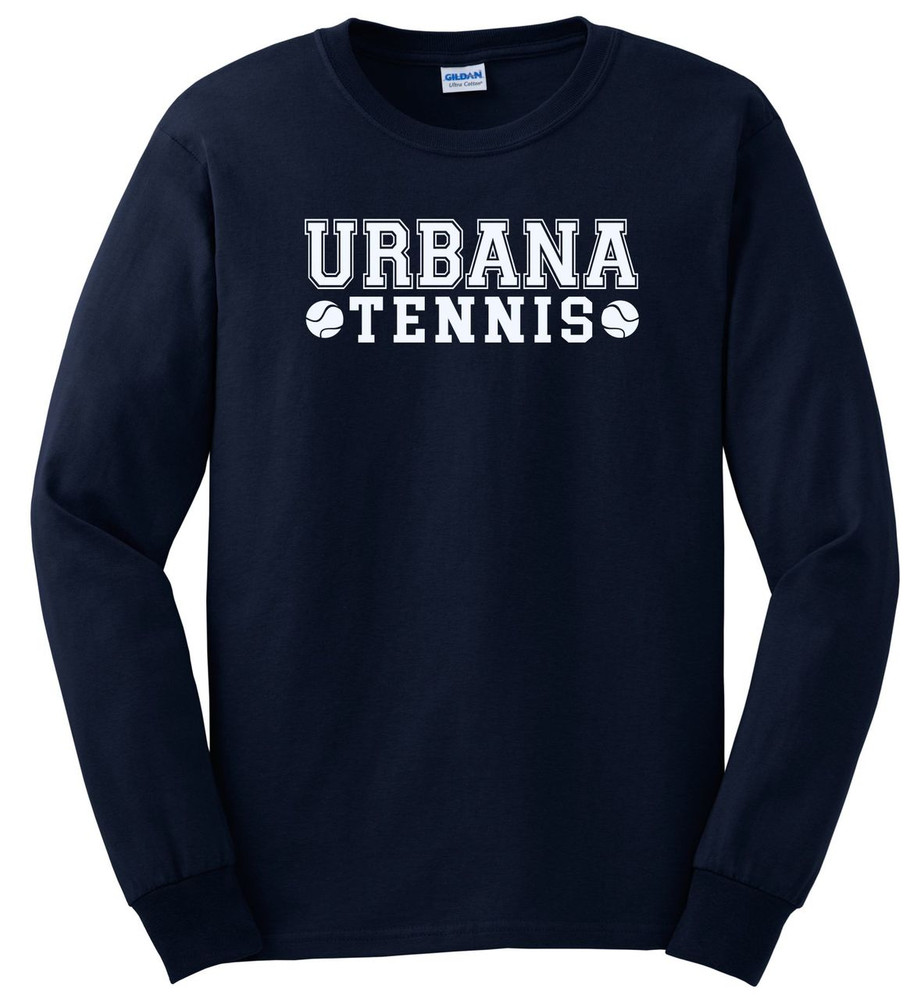 UHS Urbana Hawks TENNIS T-shirt Cotton LONG SLEEVE Many Colors Available NAVY