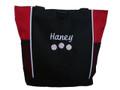 Baseball Softball Sports Team Mom Custom Personalized RED Tote Bag Font Style Cursive