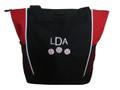 Baseball Softball Sports Team Mom Custom Personalized RED Tote Bag Font Style London