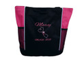 Upside Down Heart Stethoscope Nursing Registered Nurse MSN RN HOT PINK Tote Bag Font Style ALEXIS