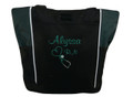 Upside Down Heart Stethoscope Nursing Registered ER Nurse RN BSN HUNTER GREEN Tote Bag Font Style CASUAL SCRIPT