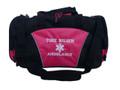 Star of Life HOT PINK DUFFEL Ambulance First Responder EMT EMS Paramedic Medic RN Emergency Hospital Font Style VARSITY