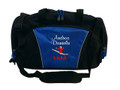 Gymnast Gymnastics Leaping Dance Personalized Embroidered ROYAL BLUE DUFFEL Font Style CASUAL SCRIPT & VARSITY